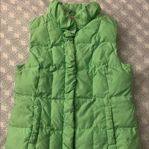 Lily Pulitzer Puffer Vest Green M
